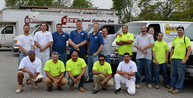 New York Based Ben's General Contracting Corporation Team Photp