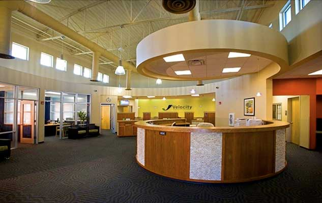 Financial institution interior construction complete